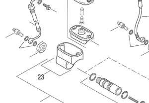 Reservoir Assy, Master Cylinder, Rear  FXD 06-