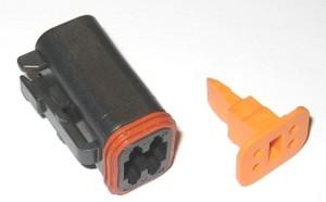 Deutsch 4 Wire Plug Housing Blk