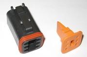 Deutsch 6 Wire Plug Housing Blk