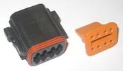 Deutsch 8 Wire Plug Housing Blk