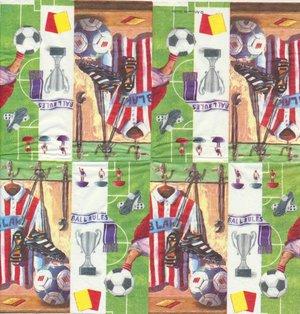 Fotbolls tema visar hela näsduken