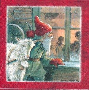 Jenny Nyströms Tomte med julbock
