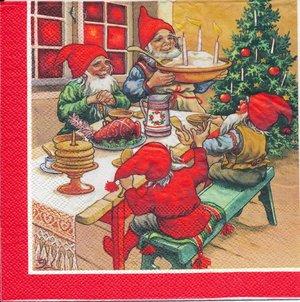 Tomtar vid julbordet   sej2074