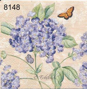 Blå blomma med fjäril   8148