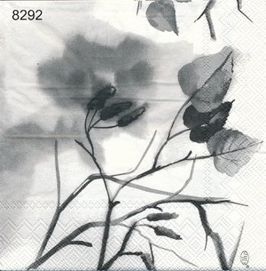 Grå svarta blad  8292