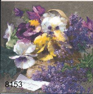 Blommor i korg  8153