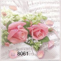 Rosor på notblad  8061