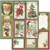 Papper Stamperia - Classic Christmas - Cards  SBB703