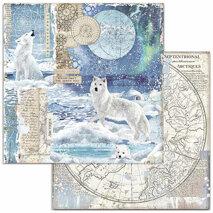 Papper Stamperia Arctic Antarctic - Wolf  SBB733
