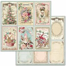 Papper Stamperia - Pink Christmas - Cards  SBB702