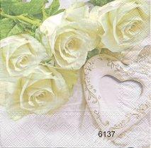 Ljusa rosor och betong hjärta   6137