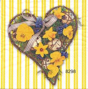 Vårblommor i hjärta  8298