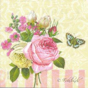 Rosor och fjäril