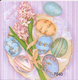 Fina påskägg och hyacint