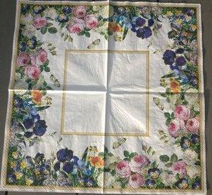 Blombårder   (visar hela servetten)  8304