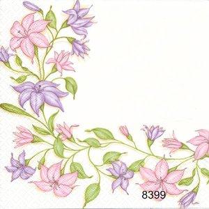 Pastellfärgad blomranka  8399