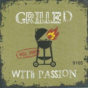 Grilled with passion (grön bakgrund)