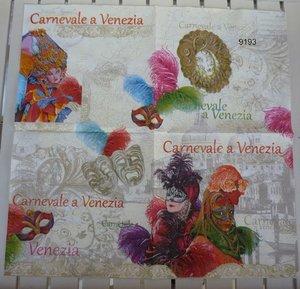 Karneval i Venedig (visar hela servetten)   9193