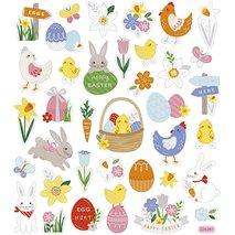 Stickers, 15x16,5 cm, , påskmix, 1ark