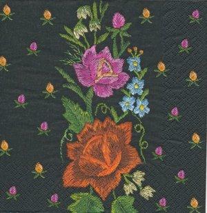 Broderade blommor  8164