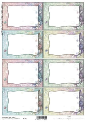 Scrapbooking paper ensidigt  A4 SC0 022