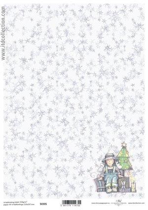 Scrapbooking paper ensidigt  A4 SC0 035