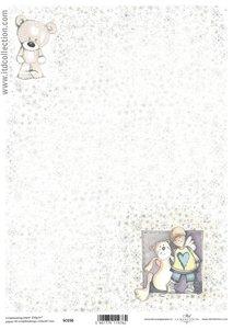 Scrapbooking paper ensidigt  A4 SC0 036