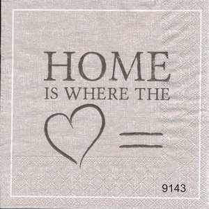 Home is where the hart is( Beige-brun ton)