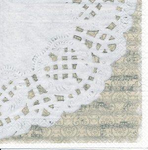 Bilden visar en del av servetten