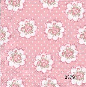 Rosa små rosor  8379