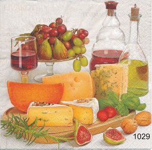 Mysbricka med ost och vin
