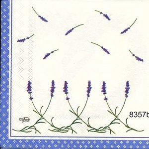 Lavendelhjärta 2 olika motiv på servetten  8357