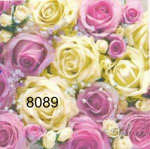 Gula och rosa rosor   8089