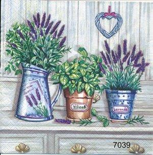Lavendel och basilika