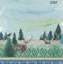 Hjortdjur i vinterskog  (olika motiv)  3787