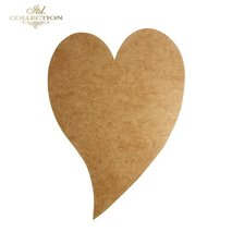 Heart-Frame 25,5 cm x 17,5 cm  enkel.3mm tjock  - HDF015