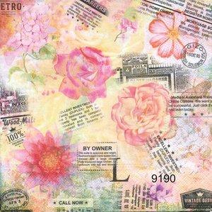 Blommor och tidningstexter