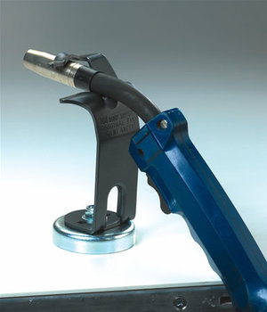 Mig torch holder with magnet foot