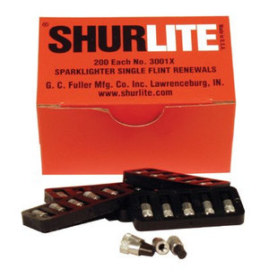 Replacement flints Shurlite round file lighter