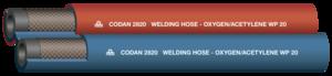 Twin welding hose 8mm AC/OX