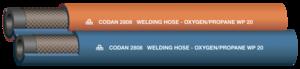Twin welding hose OX 10,0 + LPG 10,0