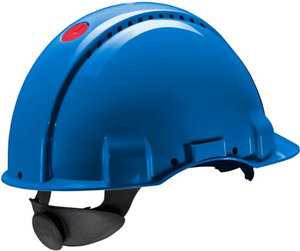 Safety helmet G3000 blue ratchet adjustment