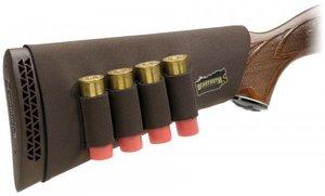 Kolvskydd för hagelgevär med patronhållar Brun