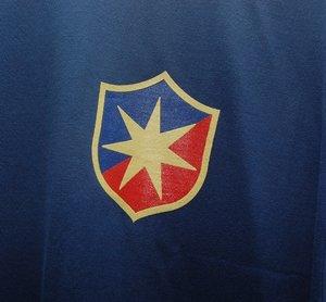T-shirt, indigoblå med ÖIS gamla logo