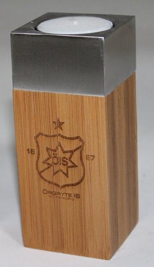 Bambuljusstake med ÖIS-märke (mindre)