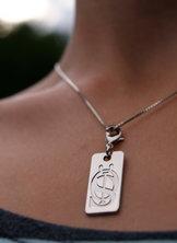 Halsbandshänge ÖIS monogram