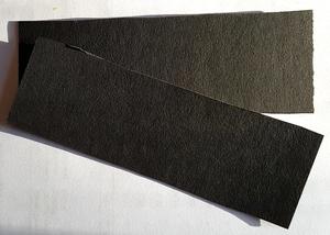 Vulkanfiber - remsa svart 1,0 mm
