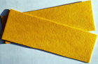 Vulkanfiber - remsa gul 0,8 mm