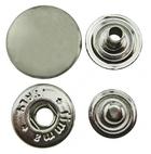 Tryckknapp 15 mm Nickel 10-pack