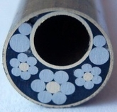 Flower mosaik tub 9,0 mm